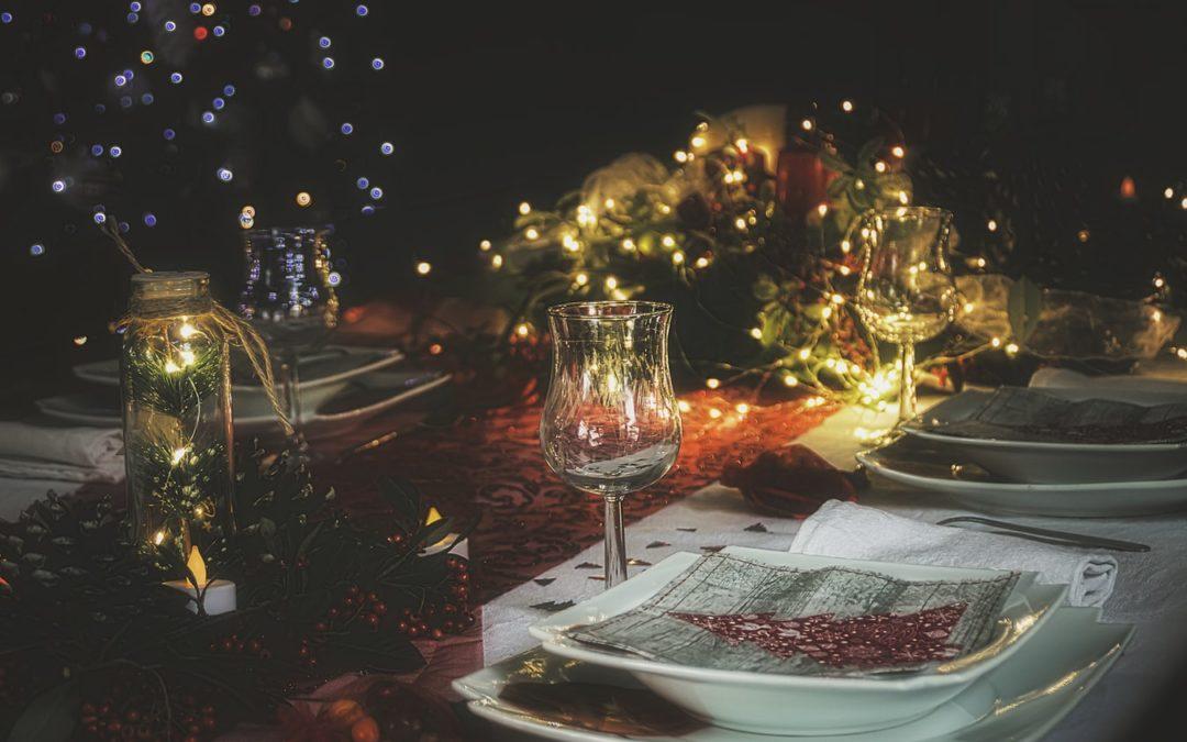 Una bonita mesa de Navidad