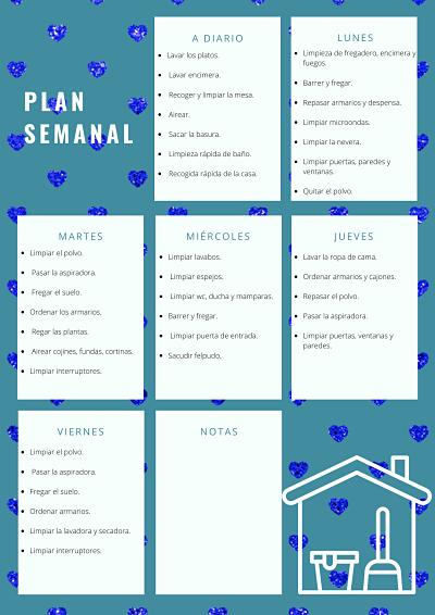 PLAN DE LIMPIEZA SEMANAL